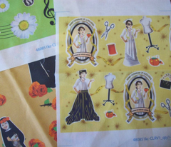 Patron Saint of Fashion Design and Seamstresses icon fabric