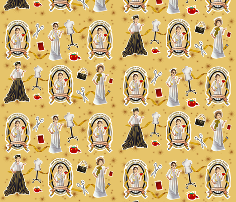 Patron Saint of Fashion Design and Seamstresses icon fabric fabric by littleliteraryclassics on Spoonflower - custom fabric