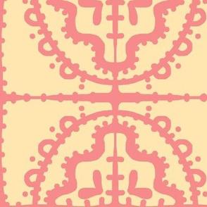 Bumpy Wonky Tile (sunshine & salmon)