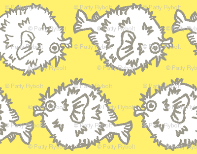 Pufferfish! (sunshine & grey)