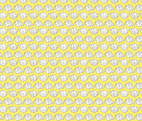 Pufferfish! (sunshine & grey) fabric by pattyryboltdesigns on Spoonflower - custom fabric