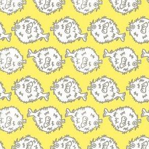 Pufferfish! (sunshine & grey)