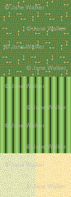 Green Greyhound Gift Wrap Sampler ©2013 by Jane Walker