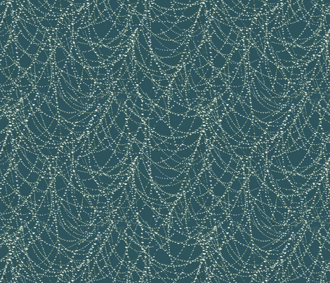 spider web with morning dew fabric by kociara on Spoonflower - custom fabric