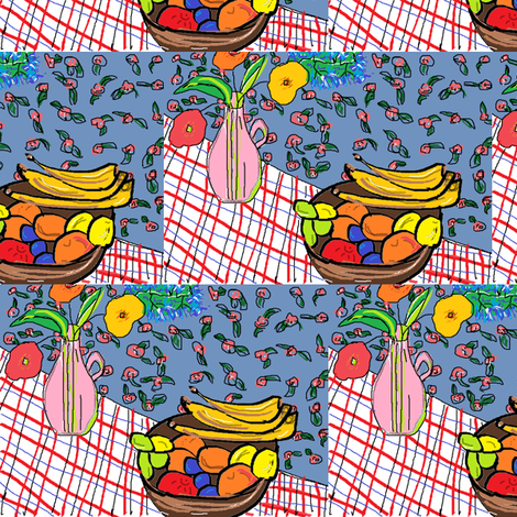 Crazy Garden Still Life fabric by marcea on Spoonflower - custom fabric