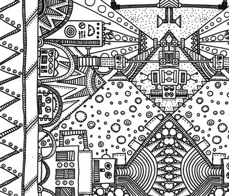 robots fabric by tinybluehouse on Spoonflower - custom fabric