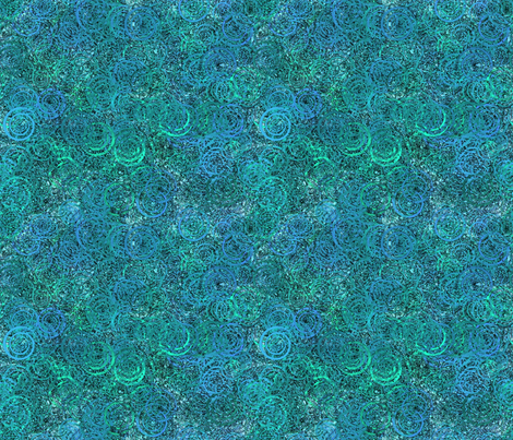 swirly pattern teal fabric by kociara on Spoonflower - custom fabric