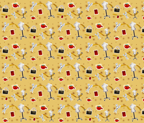 Fashion Design and Seamstress  fabric by littleliteraryclassics on Spoonflower - custom fabric
