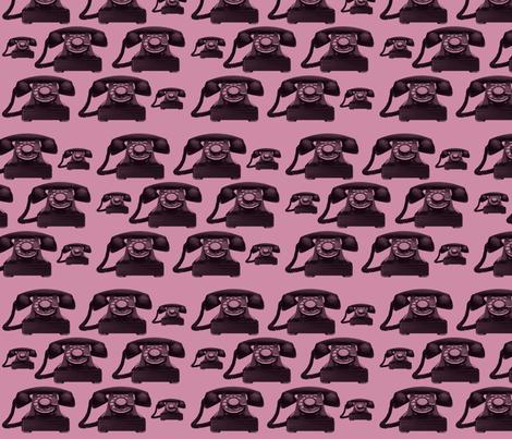 old phones fabric by kociara on Spoonflower - custom fabric