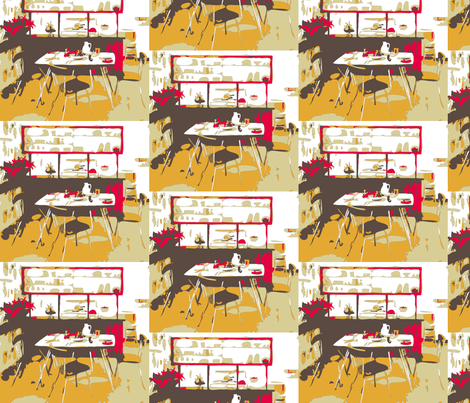 1950's retro kitchen fabric by codalion on Spoonflower - custom fabric