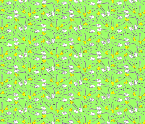 chickie_and_bunnies_for_babies fabric by mackerilla on Spoonflower - custom fabric
