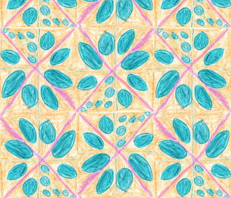 Diamond Flower fabric by jsf_creations on Spoonflower - custom fabric
