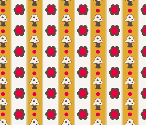 Groovy Kitchen fabric by allthingsbelle on Spoonflower - custom fabric