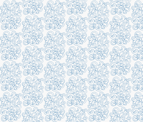 Blue Jane fabric by manifestjoy on Spoonflower - custom fabric
