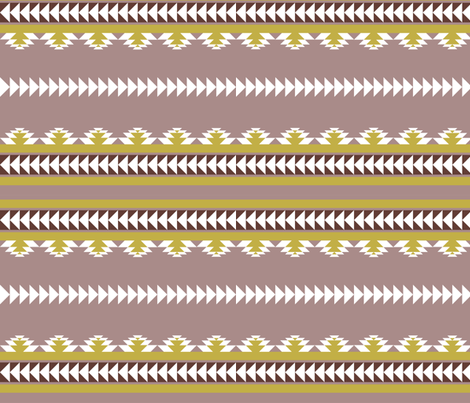aztec stripes- mauve & olive