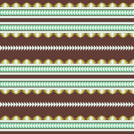 aztec stripes brown olive & green fabric by ravynka on Spoonflower - custom fabric