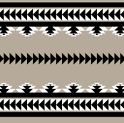 aztec stripes - black & gray