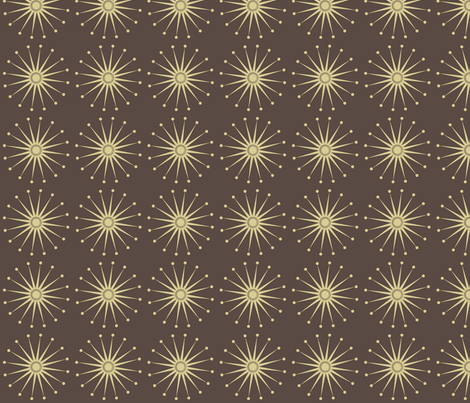 Starspangle (beige on brown) fabric by bippidiiboppidii on Spoonflower - custom fabric