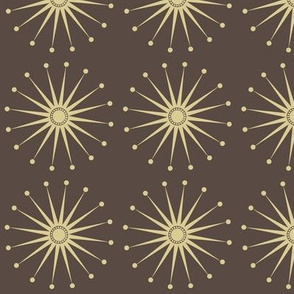 Starspangle (beige on brown)