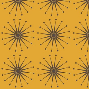 Starspangle (Brown on Mustard)