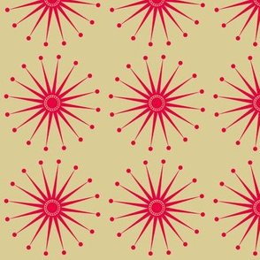 Starspangle (Pink on Beige)