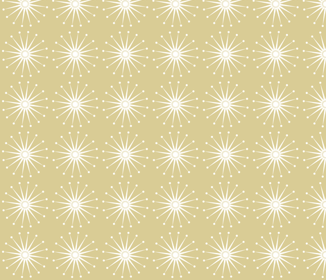 Starspangle (White on Beige) fabric by bippidiiboppidii on Spoonflower - custom fabric