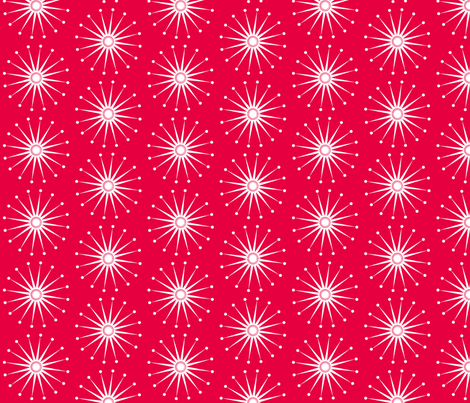 Starspangle (White on Red) fabric by bippidiiboppidii on Spoonflower - custom fabric