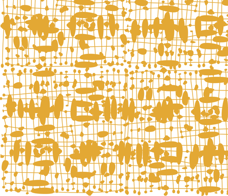 Mustard Knot Weave fabric by bippidiiboppidii on Spoonflower - custom fabric