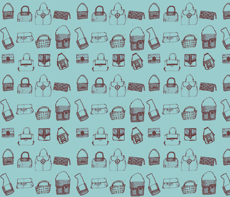 Bags! Bags! Bags! fabric by wwgoddess on Spoonflower - custom fabric