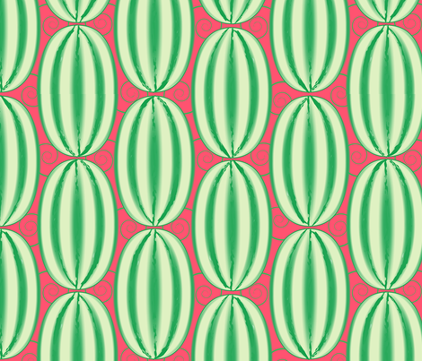 Whole Watermelons fabric by nekineko on Spoonflower - custom fabric