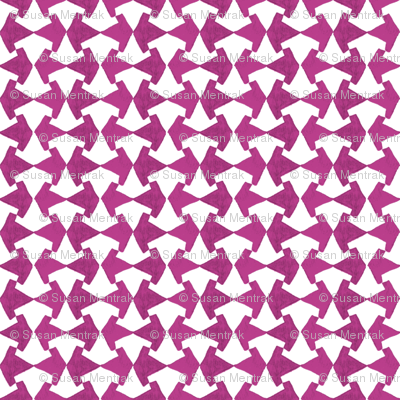 Watercolor Lattice Check - Plum