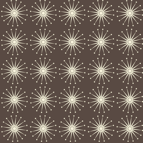 Starspangle (Natural on chocolate) fabric by bippidiiboppidii on Spoonflower - custom fabric