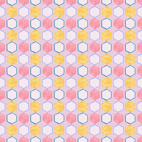 Honeycomb hexagons fabric by joybucket on Spoonflower - custom fabric