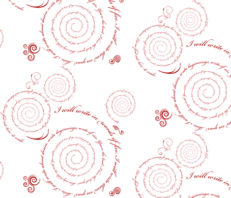 Words of Fire fabric by kellyw on Spoonflower - custom fabric