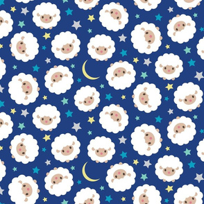 2015 Year of the Sheep Counting Sheep  Ditsy Pattern