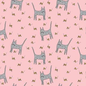 Cat Mice Pink