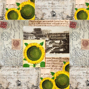 Italian Sunflower Rome Postcard