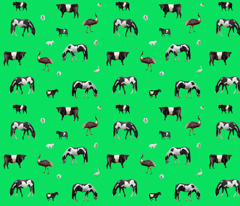 Farm Animals fabric by seawinken on Spoonflower - custom fabric