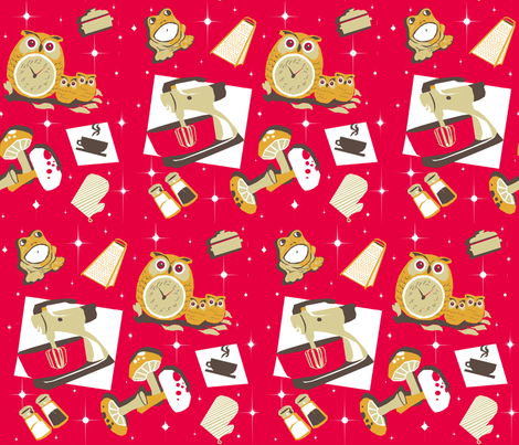 Retro3red fabric by bricoleur on Spoonflower - custom fabric