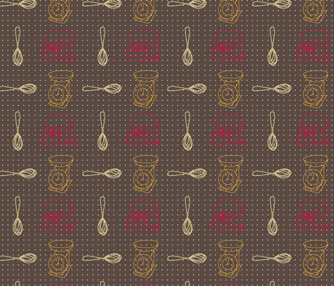 retro_kitchen fabric by finn_emily on Spoonflower - custom fabric