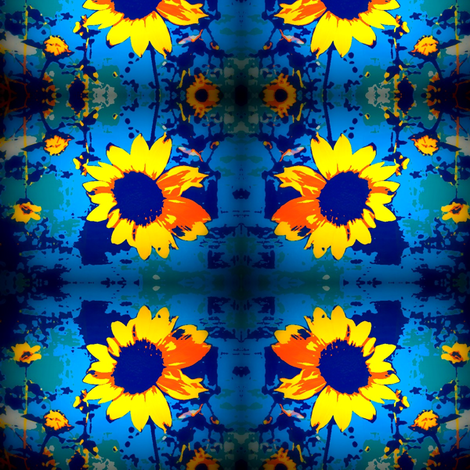 The sunflower by E. Craats fabric by _vandecraats on Spoonflower - custom fabric
