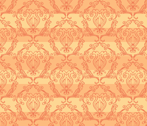 Doodled Damask - Scheme 6 fabric by rgushi on Spoonflower - custom fabric