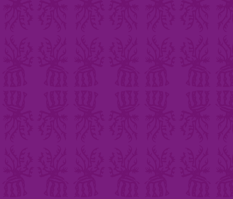 elk in purple fabric by kcs on Spoonflower - custom fabric