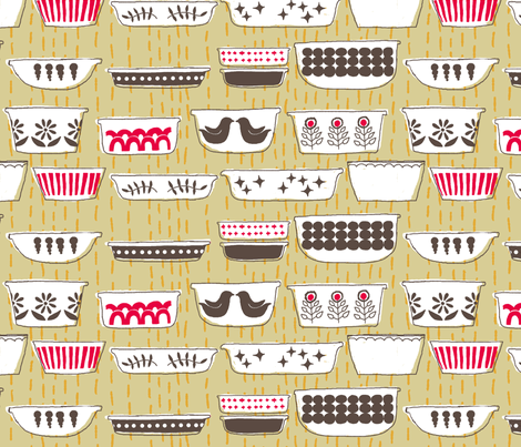 pyrex fabric by cleverviolet on Spoonflower - custom fabric