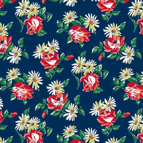 KC floral navy colorway