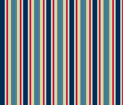 KC stripe navy fabric by minimiel on Spoonflower - custom fabric