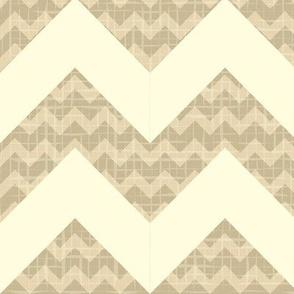 Сhevron pattern on linen canvas background