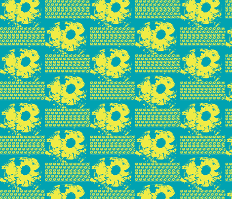 blue_sunflower fabric by _vandecraats on Spoonflower - custom fabric