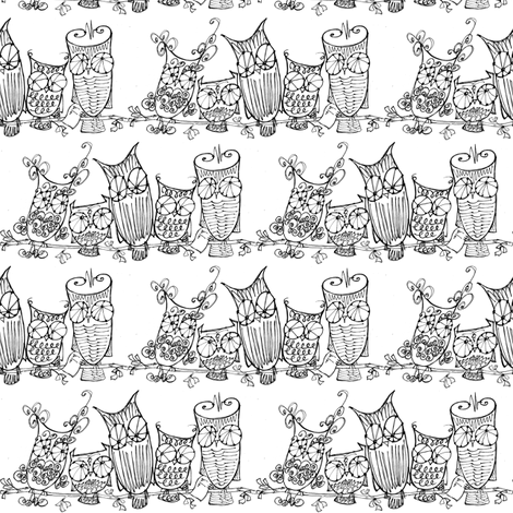 The Committee_blk/wht fabric by cheeseandchutney on Spoonflower - custom fabric