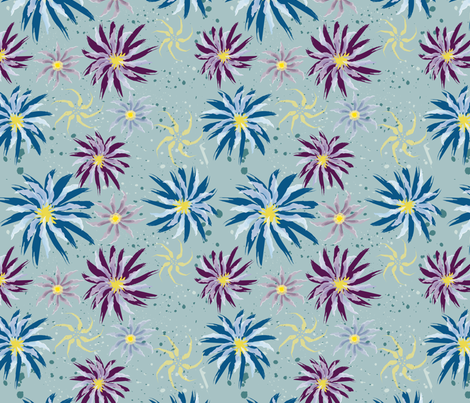 Summer Blooms fabric by jjtrends on Spoonflower - custom fabric